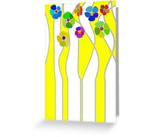Flowers over yellow Greeting Card