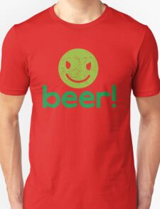 Beer! with cute evil smiley face T-Shirt