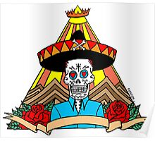 Day of the Dead T Shirt Colour Poster