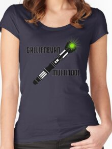 Dr Who - Gallifreyan MultiTool Women's Fitted Scoop T-Shirt