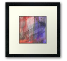 Fire And Ice Abstract Texture 2 Framed Print