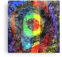 Chaos Textured Abstract 3 Canvas Print