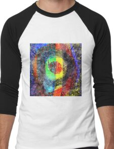 Chaos Textured Abstract 3 Men's Baseball ¾ T-Shirt