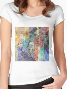 Form in Chaos Abstract Women's Fitted Scoop T-Shirt