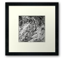 Black And White Tempest Abstract Framed Print