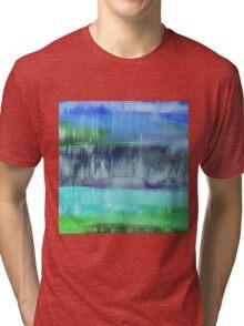 Aqualand Abstract Tri-blend T-Shirt