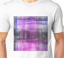 Purple And Blue Abstract Unisex T-Shirt