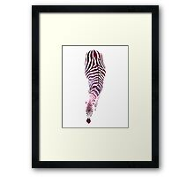 Abstract Zebra - version 6 - space Framed Print