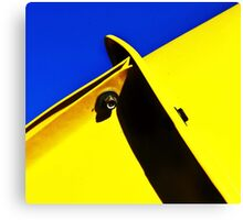 abstract blue & yellow Canvas Print