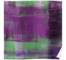 Purple, Green and black abstract painting Poster