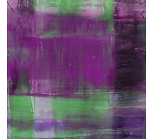 Purple, Green and black abstract painting Photographic Print