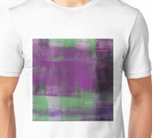 Purple, Green and black abstract painting Unisex T-Shirt