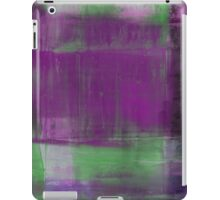 Purple, Green and black abstract painting iPad Case/Skin
