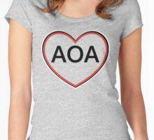AOA Heart Women's Fitted Scoop T-Shirt