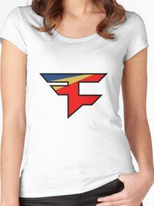 Official Faze Clan Logo Women's Fitted Scoop T-Shirt