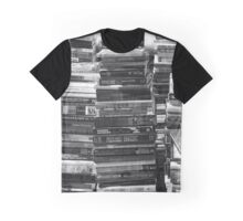 Black and White Books Graphic T-Shirt
