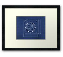 Atari Joystick Blueprint Framed Print