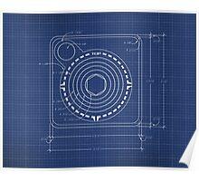 Atari Joystick Blueprint Poster