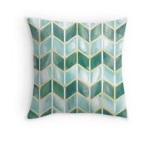 Chevron - Forest Mist Throw Pillow