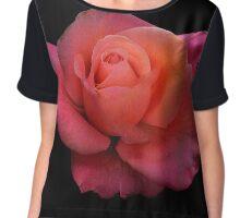 Rose Portrait Chiffon Top