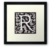 "Art Nouveau ""R"" (Sold) Framed Print"