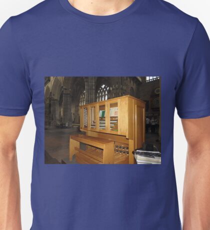 The Grand Organ Console, Exeter Cathedral Unisex T-Shirt