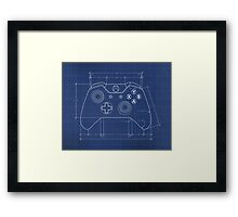 XBOX One Controller Blueprint Framed Print