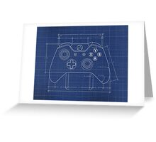 XBOX One Controller Blueprint Greeting Card