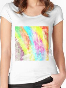 Abstract Rainbow #IX Women's Fitted Scoop T-Shirt