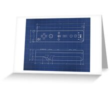 Wii Remote Blueprint Greeting Card