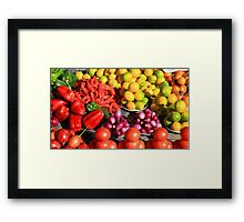 Colorful Fruits and Vegetables Framed Print
