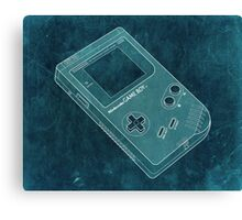 Distressed Nintendo Game Boy - BlueGreen Canvas Print