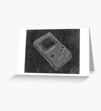 Distressed Nintendo Game Boy - Black & White Greeting Card