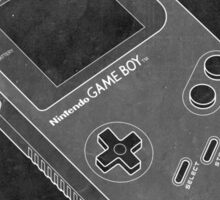 Distressed Nintendo Game Boy - Black & White Sticker
