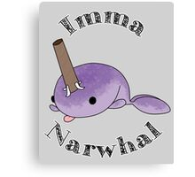imma Narwhal Canvas Print