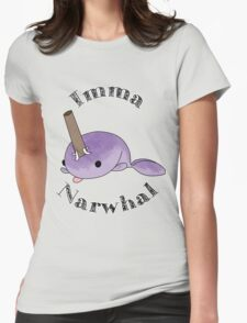 imma Narwhal Womens Fitted T-Shirt