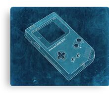 Distressed Nintendo Game Boy - Cyan Canvas Print