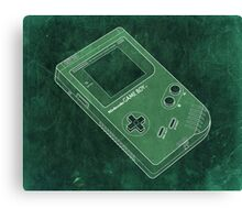 Distressed Nintendo Game Boy - Green Canvas Print