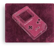 Distressed Nintendo Game Boy - Pink Canvas Print