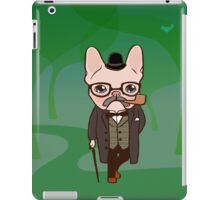 The Frenchie gentleman takes a walk after the spring rain iPad Case/Skin