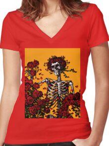 My Bloody Valentine Skeleton Women's Fitted V-Neck T-Shirt