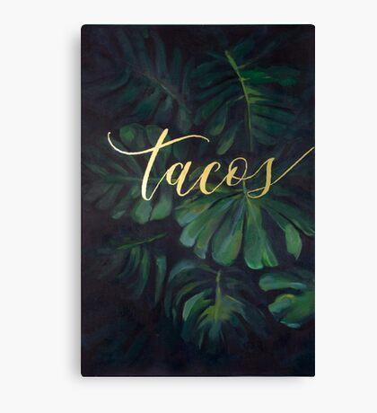 Tacos in the Tropics Canvas Print