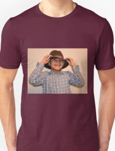 Boy Wearing Grandpa's Hat Unisex T-Shirt
