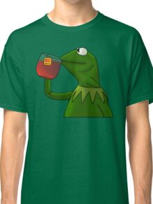 Kermit sipping tea (Redesign) Classic T-Shirt