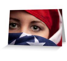 Muslim American Greeting Card