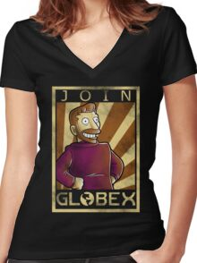 Join globex Women's Fitted V-Neck T-Shirt