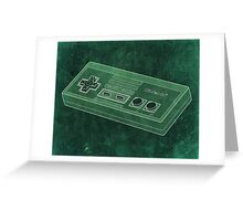 Distressed Nintendo NES Controller - Green Greeting Card