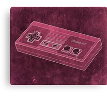 Distressed Nintendo NES Controller - Pink Canvas Print