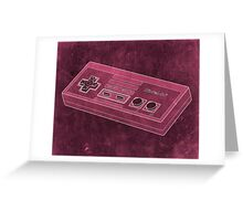 Distressed Nintendo NES Controller - Pink Greeting Card