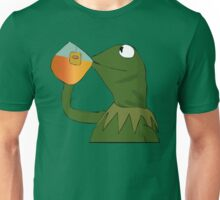 Kermit sipping tea Unisex T-Shirt